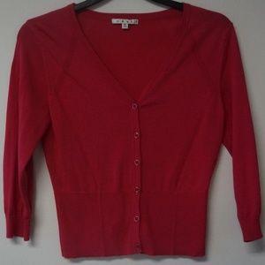 CAbi Pink Button Cardigan Sweater M #885